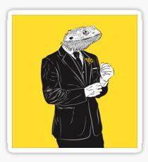 Dapper Lizard Sticker