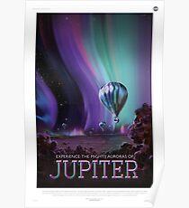 Erlebe die mächtigen Auroras des Jupiter Poster