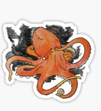 Angry Octopus Sticker