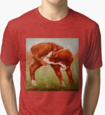 Itchy Red Calf Tri-blend T-Shirt