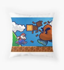 Air Glorio Bros Throw Pillow