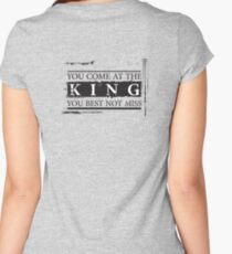 """You Come at the King, You Best Not Miss"" - The Wire (Dark) Women's Fitted Scoop T-Shirt"