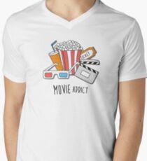 Movie Addict Men's V-Neck T-Shirt