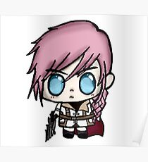 Chibi Lightning Final Fantasy 13 Poster