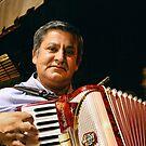 Accordion Player in Rome by Bob Ramsak