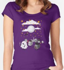 halloween hedgehogs party gang Women's Fitted Scoop T-Shirt