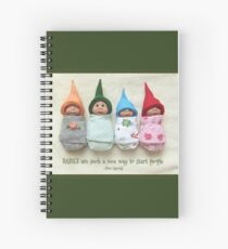 BABIES Are Such A Nice Way To Start People, Clay Babies Spiral Notebook
