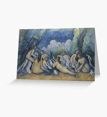 Paul Cezanne - Bathers Les Grandes Baigneuses  1894-1905 Greeting Card