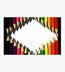 Colored Pencil Diamond Shape Photographic Print