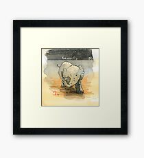 Elephant sketch Framed Print