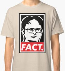 """The Office: Dwight """"FACT' Obey Classic T-Shirt"""
