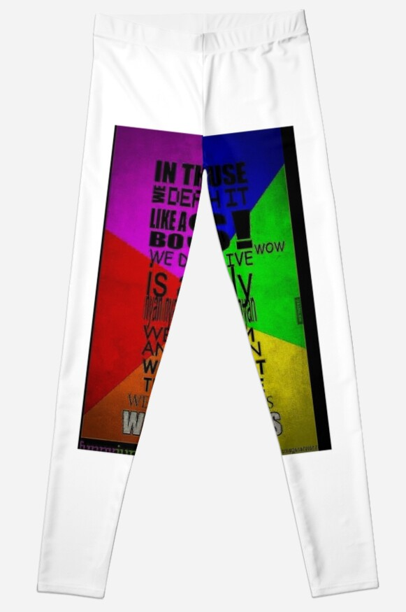 In This House We Do Memes Leggings By Gageidinmage Redbubble