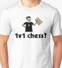 1v1 chess? (Chess Nerd) Unisex T-Shirt