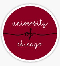 University of Chicago Circle Sticker