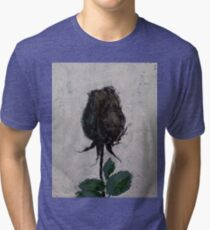 Black Rosebud Tri-blend T-Shirt