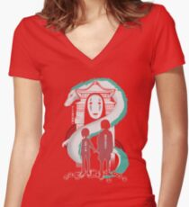 Spirited Women's Fitted V-Neck T-Shirt