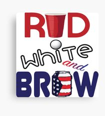 Red White and Brew  Canvas Print