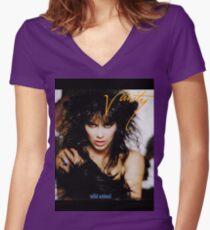 vanity-animal Women's Fitted V-Neck T-Shirt