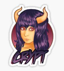 Retro Demon Sticker