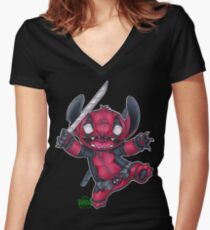 StitchPool  Women's Fitted V-Neck T-Shirt
