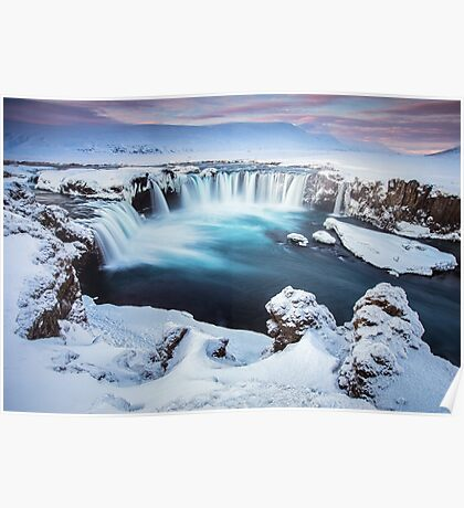 Godafoss - The waterfall of the gods Poster