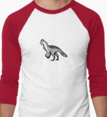 Ask Me About Feathered Dinosaurs Men's Baseball ¾ T-Shirt
