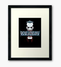 Psychobilly Skull Framed Print
