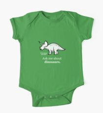 Ask Me About Dinosaurs One Piece - Short Sleeve