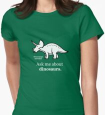 Ask Me About Dinosaurs Womens Fitted T-Shirt