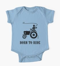 Born To Ride (Tractor / Black) One Piece - Short Sleeve