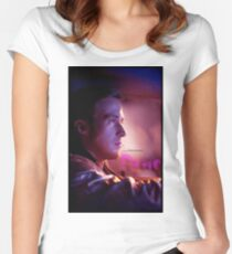 Drive Movie Poster Women's Fitted Scoop T-Shirt