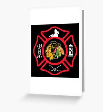 Chicago Fire - Blackhawks style Greeting Card