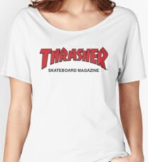 Thrasher Magazine Red Logo Design Women's Relaxed Fit T-Shirt