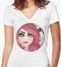 Dear little doll series... MUFFIE Women's Fitted V-Neck T-Shirt