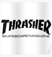 """Thrasher """"Skateboard Magazine"""" Logo Design Poster"""