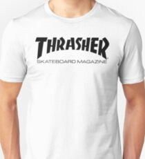 "Thrasher ""Skateboard Magazine"" Logo Design T-Shirt"
