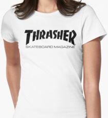 """Thrasher """"Skateboard Magazine"""" Logo Design Womens Fitted T-Shirt"""