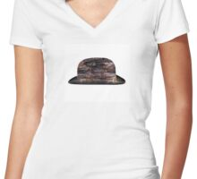 Crusty Bowler Women's Fitted V-Neck T-Shirt