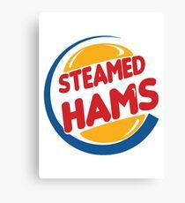 Steamed Hams – Principal Skinner, Superintendant Chalmers Canvas Print