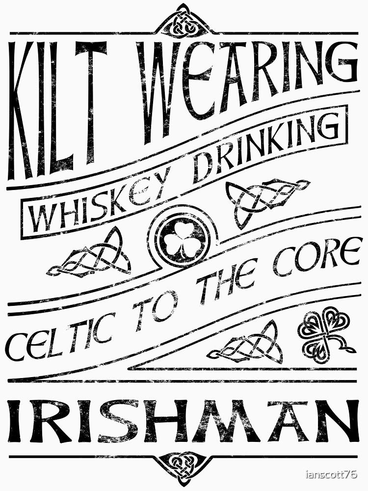 Kilt Wearing Irishman - black by ianscott76