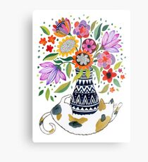 Calico Bouquet Metal Print