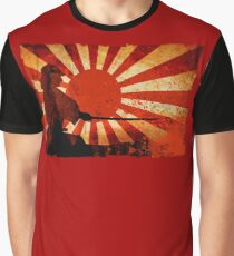 Samurai Sun Graphic T-Shirt