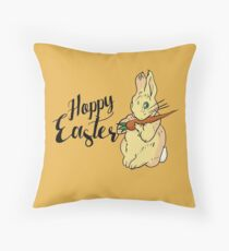 HOPPY easter Throw Pillow