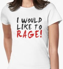 I WOULD LIKE TO RAGE!!! - Grog Strongjaw Women's Fitted T-Shirt