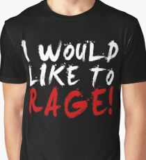 I WOULD LIKE TO RAGE!!! - Grog Strongjaw (White) Graphic T-Shirt
