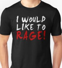 I WOULD LIKE TO RAGE!!! - Grog Strongjaw (White) Unisex T-Shirt