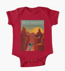 Mars Travel Poster One Piece - Short Sleeve