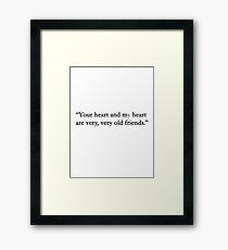 You heart.... Framed Print