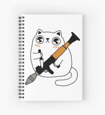 Cuddly Combat Cat Spiral Notebook