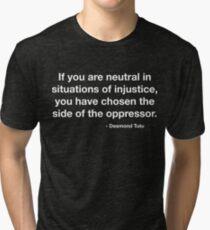 Desmond Tutu Oppressor Quote Tri-blend T-Shirt